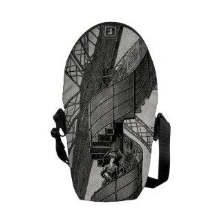 Vintage Steampunk Paris Eiffel tower staircase Messenger Bag