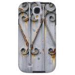 Vintage steampunk pattern metal rustic chic goth galaxy s4 case