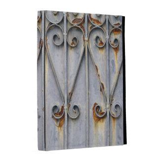 Vintage steampunk patterned metal rustic chic iPad folio case