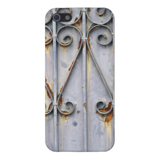 Vintage steampunk patterned metal rustic chic cover for iPhone SE/5/5s