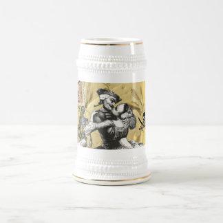 Vintage steampunk pirate beer stein