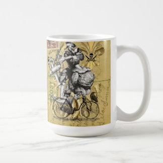 Vintage steampunk pirate coffee mug