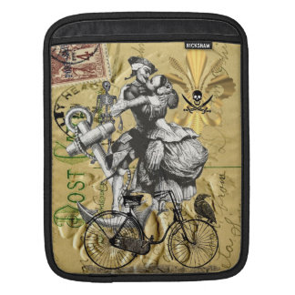 Vintage steampunk pirate iPad sleeve