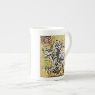 Vintage steampunk pirate tea cup