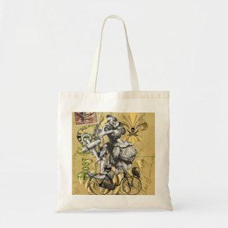 Vintage steampunk pirate tote bag