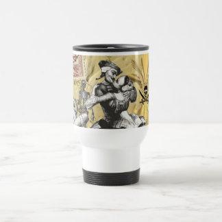 Vintage steampunk pirate travel mug