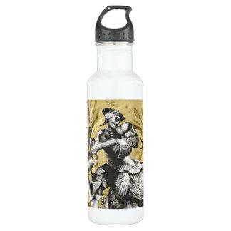 Vintage steampunk pirate water bottle