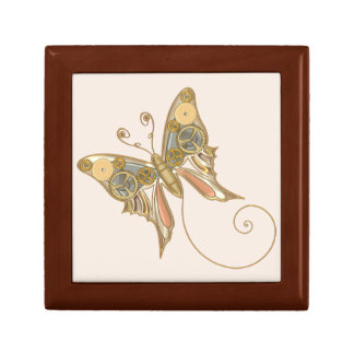 Vintage Steampunk Style Mechanical Butterfly Gift Box