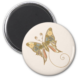 Vintage Steampunk Style Mechanical Butterfly Fridge Magnets