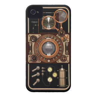 Vintage Steampunk TLR Camera #2B iPhone 4 Case-Mate Case