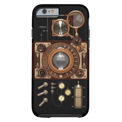 Vintage Steampunk TLR Camera  Dark  Tough iPhone 6 Case