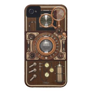 Vintage Steampunk TLR Camera iPhone 4 Case-Mate Case