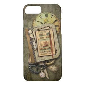Vintage Steampunk Travel iPhone 7 case