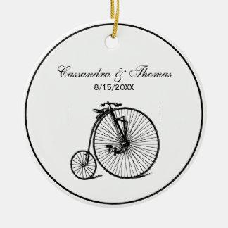 Vintage Steampunk Velocipede Bicycle Bike Ceramic Ornament