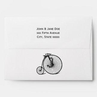 Vintage Steampunk Velocipede Bicycle Bike Envelope