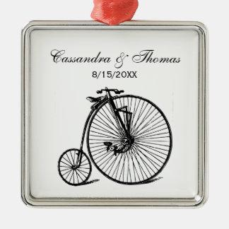 Vintage Steampunk Velocipede Bicycle Bike Metal Ornament