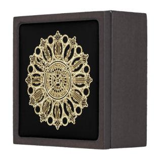 Vintage Steampunk Victorian Fancy Clock face Keepsake Box