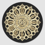 Vintage Steampunk Victorian Fancy Clock face Round Stickers