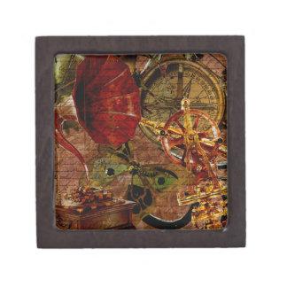 Vintage Steampunk Wallpaper Jewelry Box