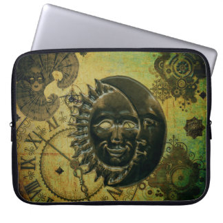 Vintage Steampunk Wallpaper Laptop Sleeve