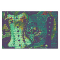 Vintage Steampunk Wallpaper Tissue Paper