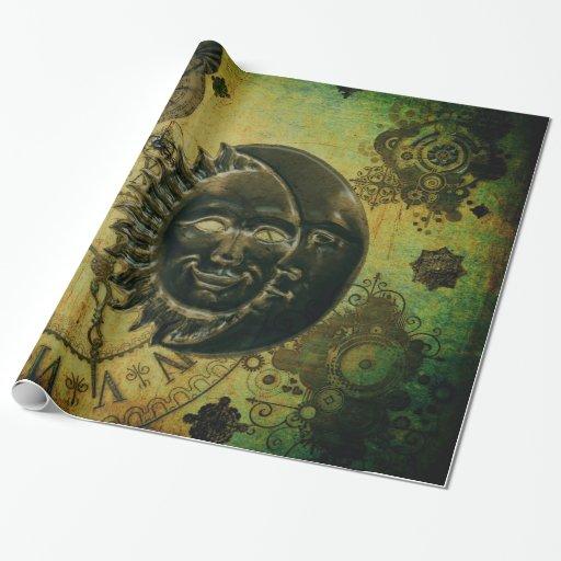 Punk Wallpaper: Vintage Steampunk Wallpaper Wrapping Paper