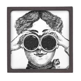 Vintage Steampunk Woman Gift Box