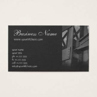 Vintage Steel Construction Skyscraper Architecture Business Card