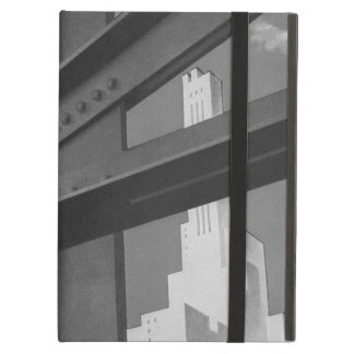 Vintage Steel Construction Skyscraper Architecture iPad Air Covers