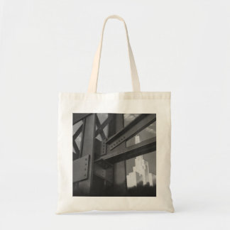 Vintage Steel Construction Skyscraper Architecture Tote Bag