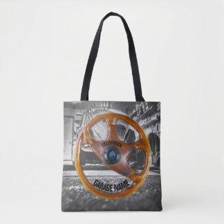 Vintage Steering Wheel Garage Owner Tote Bag