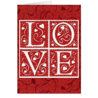 Vintage Stencil Valentine Love Letters Cards
