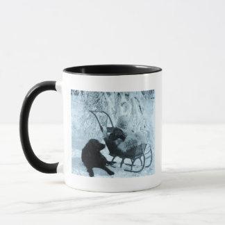 Vintage Stereoview - Baby in Sled Mug