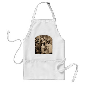 Vintage Stereoview - Christmas Delivery Adult Apron