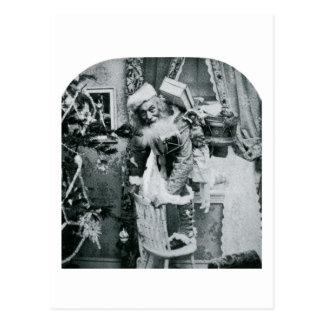 Vintage Stereoview - Christmas Delivery Postcard