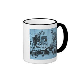 Vintage Stereoview Cyanotype de la orquesta de los Tazas