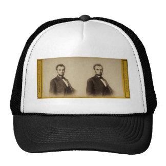 Vintage Stereoview de Abraham Lincoln Gorras