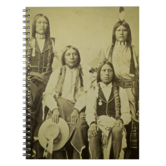 Vintage Stereoview de cuatro exploradores de Cheye Cuaderno