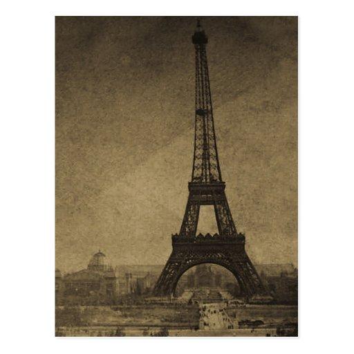 Vintage Stereoview de la torre Eiffel Postales