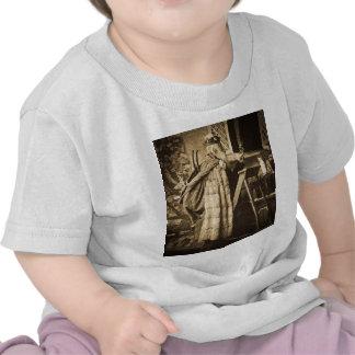 Vintage Stereoview de Santa de la era del Camisetas