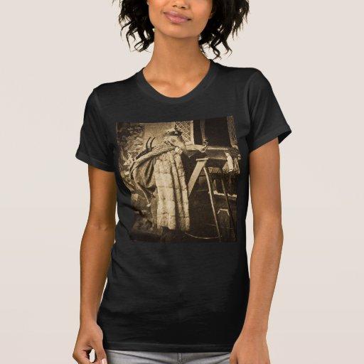 Vintage Stereoview de Santa de la era del Victoria Camisetas