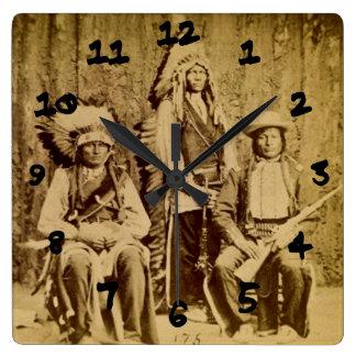 Vintage Stereoview del consejo de la guerra de Siu Reloj Cuadrado