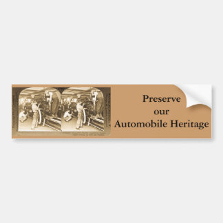 Vintage Stereoview - Our Automobile Heritage Bumper Sticker