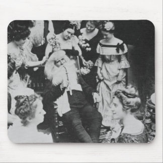 Vintage Stereoview - Santa and the Ladies Mouse Pad