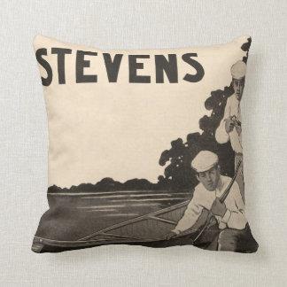 Vintage Stevens Firearms Gun Home Decor Pillow