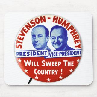 Vintage Stevenson Humphrey Campaign Button Mouse Pad