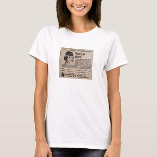 Vintage Stewardess Airline Career T-Shirt
