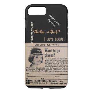 Vintage Stewardess Airline Flight Attendant iPhone 8 Plus/7 Plus Case