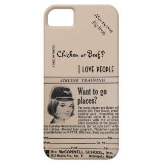 Vintage Stewardess Airline Flight Attendant iPhone SE/5/5s Case