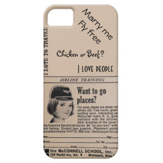 Vintage Stewardess Airline Flight Attendant iPhone SE/5/5s Case